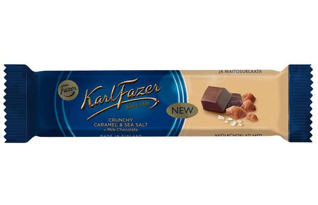 Karl Fazer Crunchy Caramel & seasalt in milk chocolate 37 g
