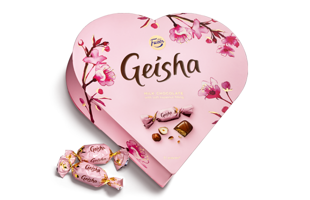 Geisha Milk chocolate with soft hazelnut filling 225 g