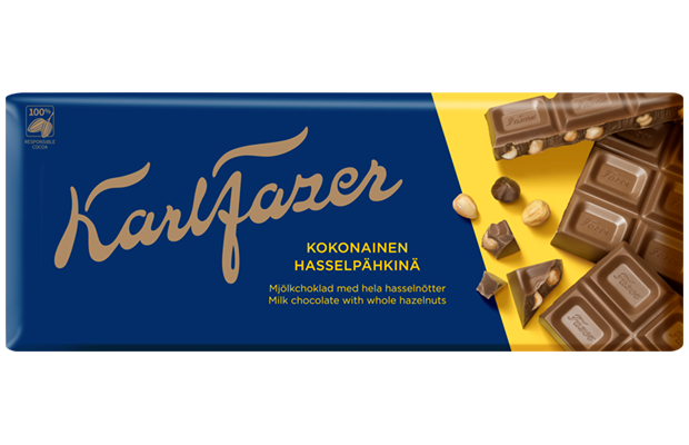 Karl Fazer Whole hazelnuts in milk chocolate 200 g