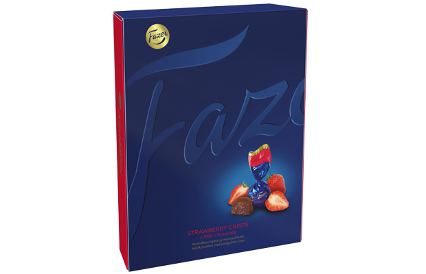 Karl Fazer  Strawberry crisps in milk chocolate 170 g