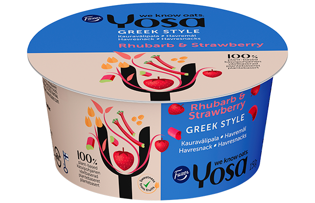 Yosa Greek Style Rhubarb & Strawberry, 150 g