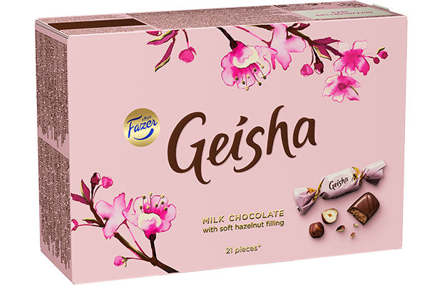 Geisha Milk chocolate with soft hazelnut filling 150 g