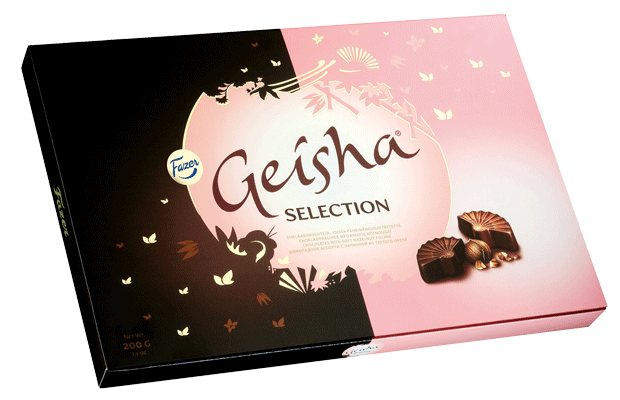 Geisha Milk chocolates & dark chocolates with soft hazelnut filling 200 g