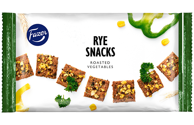 Fazer Rye Snacks Roasted Vegetables 150 g