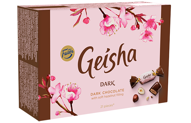 Geisha Dark chocolate with soft hazelnut filling 150 g